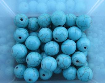 10mm Turquoise Magnesite Gemstone Beads