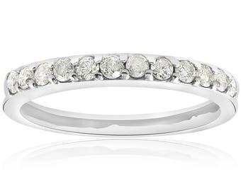 Diamond Wedding Ring 1/2ct Diamond Wedding Ring White Gold Anniversary