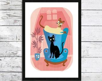 Cats - Who Us? - Oriental Cats Cat print - Cat lover gift - Cat prints - Cat picture - Cat print - Cats - Siamese cat - Sphynx Cat