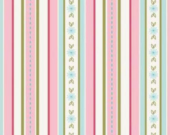 The Quilted Fish, Sweet Divinity by The Quilted Fish for Riley Blake Designs, C6104 Pink Stripes