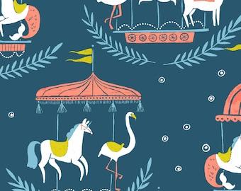 Seaside Carnival, Dear Stella Fabrics, Designed by Rae Ritchie, Moonlight Merry Go Round, STELLA-SRR930
