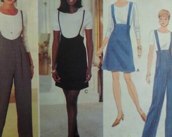 HIGH WAIST PANTS Pattern • Butterick 3956 • Miss 14-18 • Suspender Pants • Straight Leg • Sewing Pattern • Modern Patterns • WhiletheCatNaps