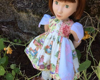 """Anne of Green Gables, vintage hankie, handmade doll clothes for A Girl for All Time, 16"""""""