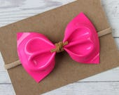 Patent Pink Faux Leather {MILLIE} Bow - Spring + Summer 2017