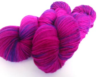 Hand painted Premium high twist sock yarn hand dyed: Rhododendron