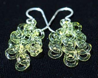 Lemon Drop Glass Chain Earrings