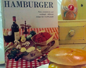 365 Ways To Cook Hamburger Harcover Cookbook 1958 by Doyne Nickerson
