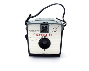 Vintage Mercury Satellite 127 Camera (c.1964) - Collectible Space Age Camera, Mid Century Camera