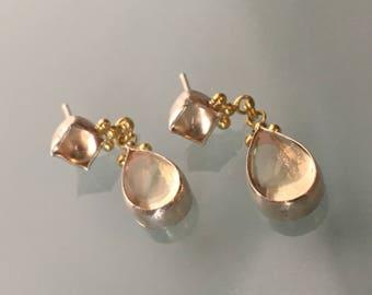 Sunstone Dangling Earrings