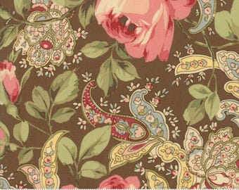 Roses and Chocolate II by Moda - Roses Paisleys - Brown - Moda 33270 15