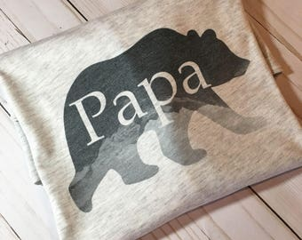 Papa Bear Shirt with Mountains