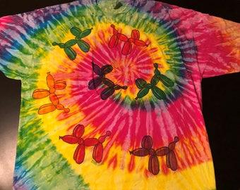 3XL- XXXL - Rainbow Balloon Dog T-shirt