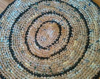 Crocheted Plarn Floor Mat