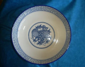 SALE  Beautiful Vintage Japanese Asake Blue and white Bowl.  Was 14.00.