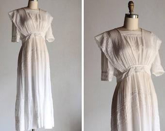 1910 Alma Blanca Tea Dress / Antique Garden Dress
