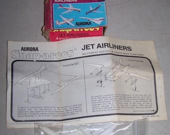 Vintage Aurora Snap A Roos Jet Airliner Model Kit