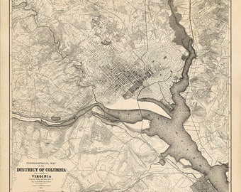 1884 Map of Washington D.C.