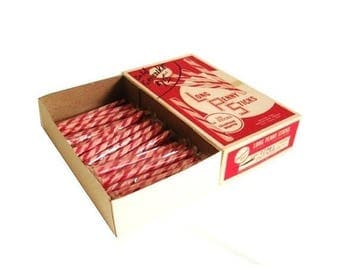 SALE Penny Candy Sticks Peppermint Stick Candy Striped Vintage NOS 1950s Food Packaging Box