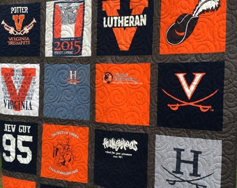 T-Shirt Quilts, TShirt Quilts, UpCycled Quilts,  Deposit for T Shirt Quilts, Christmas Gifts, Graduation Quilts