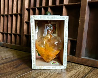 Heart, Assemblage Art, Assemblage, Heart of Glass, Love, Blown Glass, XOXO