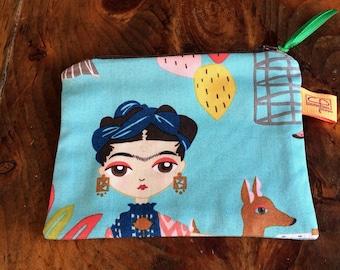 Frida Kahlo purse, Frida Kahlo coin purse, Frida Kahlo Keychain