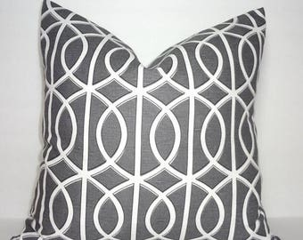FALL is COMING SALE Robert Allen Dwell Studio Geometric Grey Pillow Cover Decorative Throw Pillow Cover 18x18