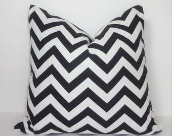 Black & White Zig Zag Chevron Pillow Covers Throw Pillows Decorative All Sizes