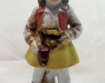 Vintage Annie Oakley Figurine, Annie Get Your Gun, Cowgirl Figurine, Western Perfection, Cowgirl 6 Shooter, Boots, Wild Wild West Cowgirl