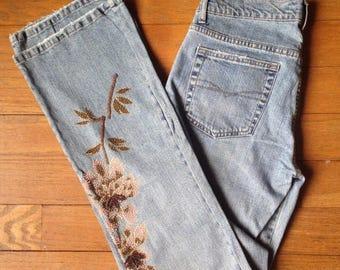 HUGE SALE Vintage 90s beaded embellished boot cut jeans