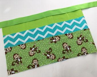 Classroom Apron- Monkey Business (teal & green)