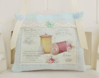 Vintage Inspired Sewing Themed Lavender Sachet/Home Decor/Door Hanger