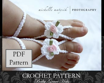 Baby Barefoot Sandals PATTERN, Baby Sandals Pattern, Crochet Pattern, Easy Crochet Pattern, Crochet Baby Sandals Pattern, Barefoot Sandals