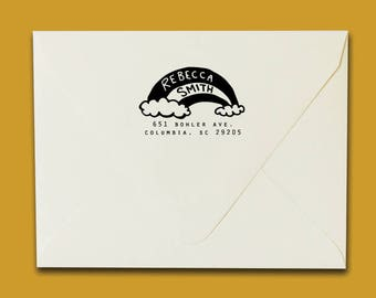 Rainbow Address Stamp