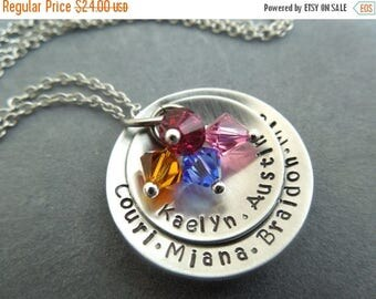 Holiday Sale Personalized mothers necklace hand stamped stainless steel
