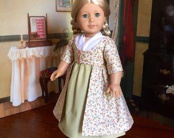 1812 Spring Dress for Caroline or 18 inch Doll