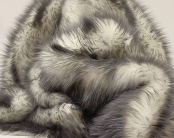 Fur faux ,gray tips, 14x30, Sofa, Loveseat, Chaise, Theater Seat, RV ?Cover, Chair Caps, Headrest Pad, Recliner Head Cover, Protector