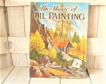 Vintage oil painting book landscapes art instruction Walter Foster 1960s- free shipping US