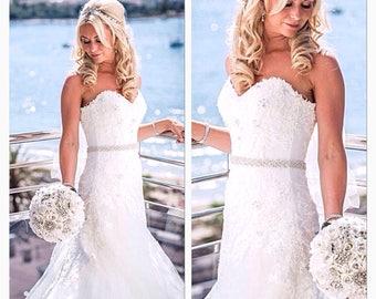 bridal sash wedding belt crystal bridal belt SR2