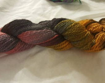 Soft luxurious Pacormo alpaca, cormo, sparkle yarn, worsted weight red gold and  grey 200yds