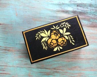Handmade Painted Trinket Box, Wooden Trinket Box, Wooden Jewelry Box, Handpainted Jewelry Box, Vanity