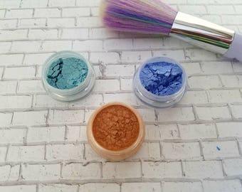 Mermaid makeup, turquoise eyeshadow, blue eyeshadow, green eyeshadow, eyeshadow trio, wedding makeup, mermaid eyeshadow, shimmer makeup
