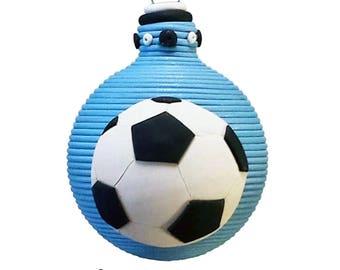 Soccer themed ornament
