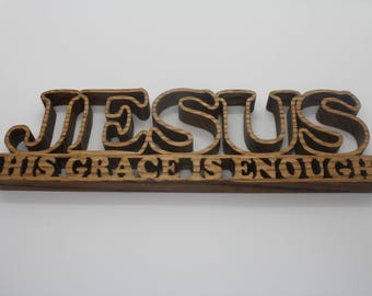Church Decor - Christianity - Jesus Christ - Religious Signs - Scripture Signs - Wood Signs Quote - Wood Signs - Sign Saying - Wood Artwork