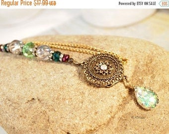 CIJ Victorian Style  Rear View Mirror Charm, Vintage Style Car Mirror Charm, Sun-catcher, Colorful Truck Rear-view Mirror Charm Gift for Her