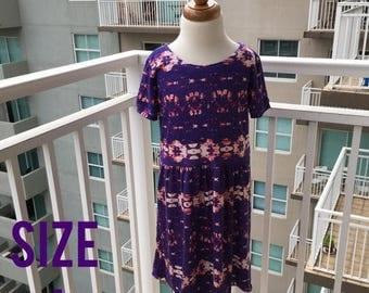 70% Off Purple Tie-Dye Knit Dress Size 4