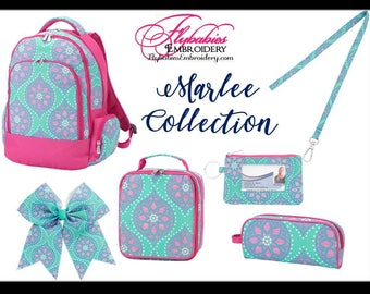 Personalized Marlee Backpack ~ Lunch Box ~ Hairbow ~ Lanyard ~ ID Holder ~ Pencil Case ~ Monogrammed Marlee Bookbag ~ FREE shipping