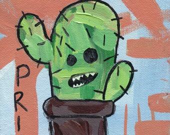 Don't Be a Prick   be nice   inspirational   artwork   pun   cactus pun   home decor  