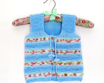 Knit Baby Vest Knit Baby Cardigan Baby Clothing Baby Vest Pattern Knit Child Vest Pullover Sleeveless Baby Girl's Clothing 24 months