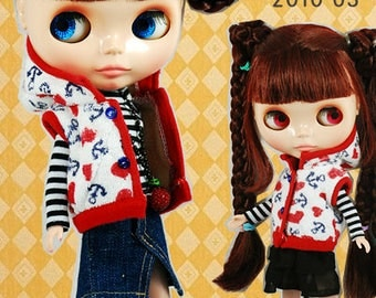 Clearance Sale - YAN - Anchor Dress Set for Blythe doll