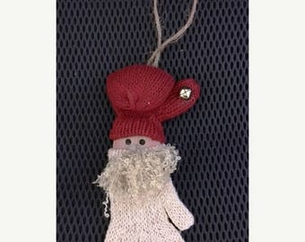 20 % off thru 8/20 SANTA CLAUS CHRISTMAS mitten glove Ornament with jingle bell